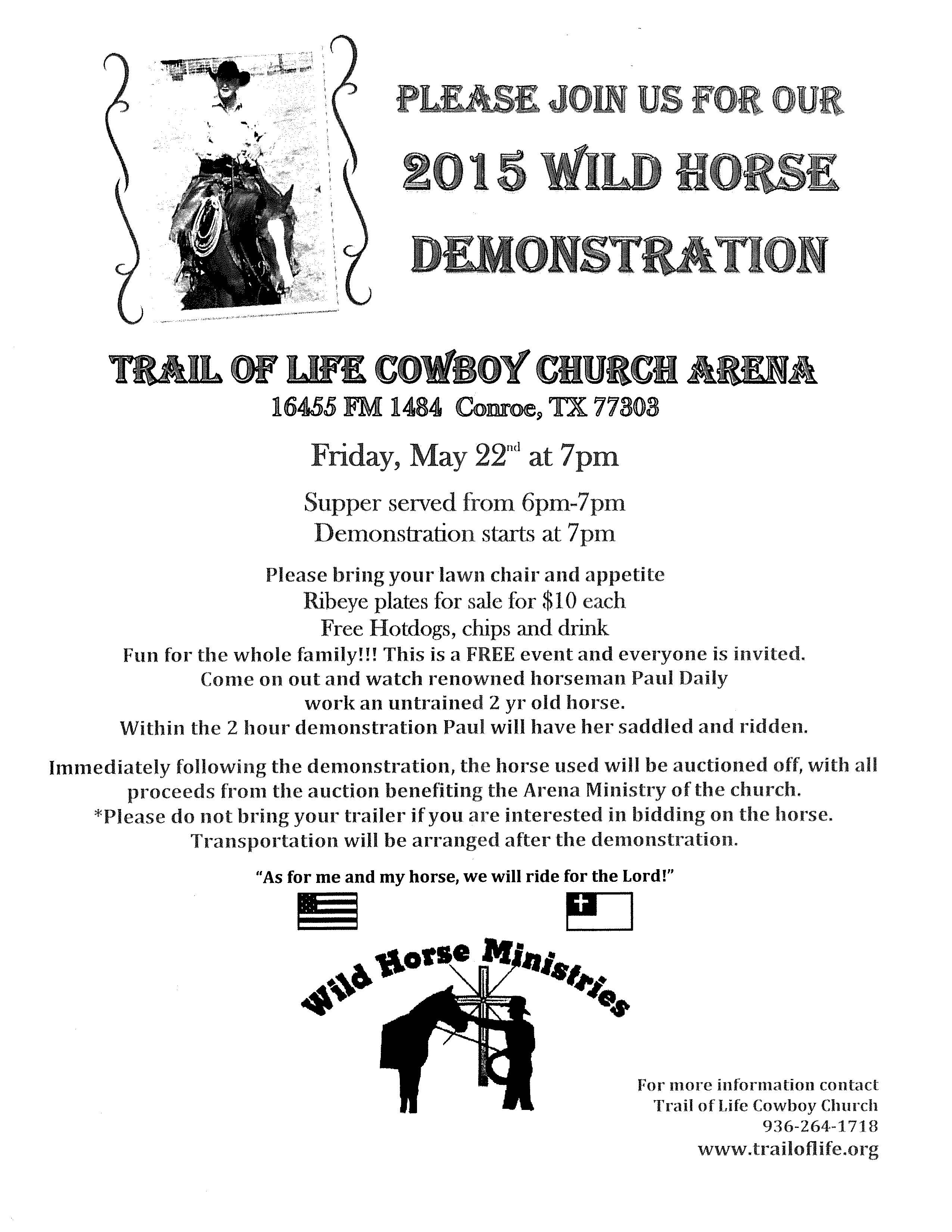2015 Wild horse Demonstration