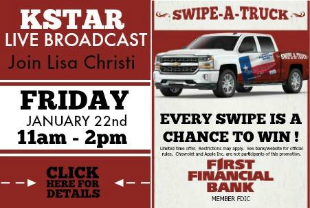First Financial Swipe a Truck Promo 1