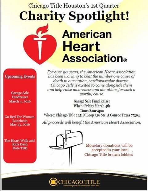 American Heart Association Garage Sale Fundraiser