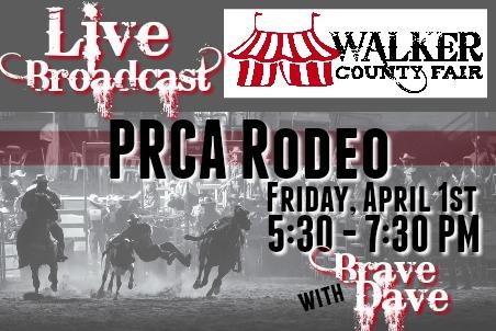 Walker County Fair PRCA Rodeo 04-01-16