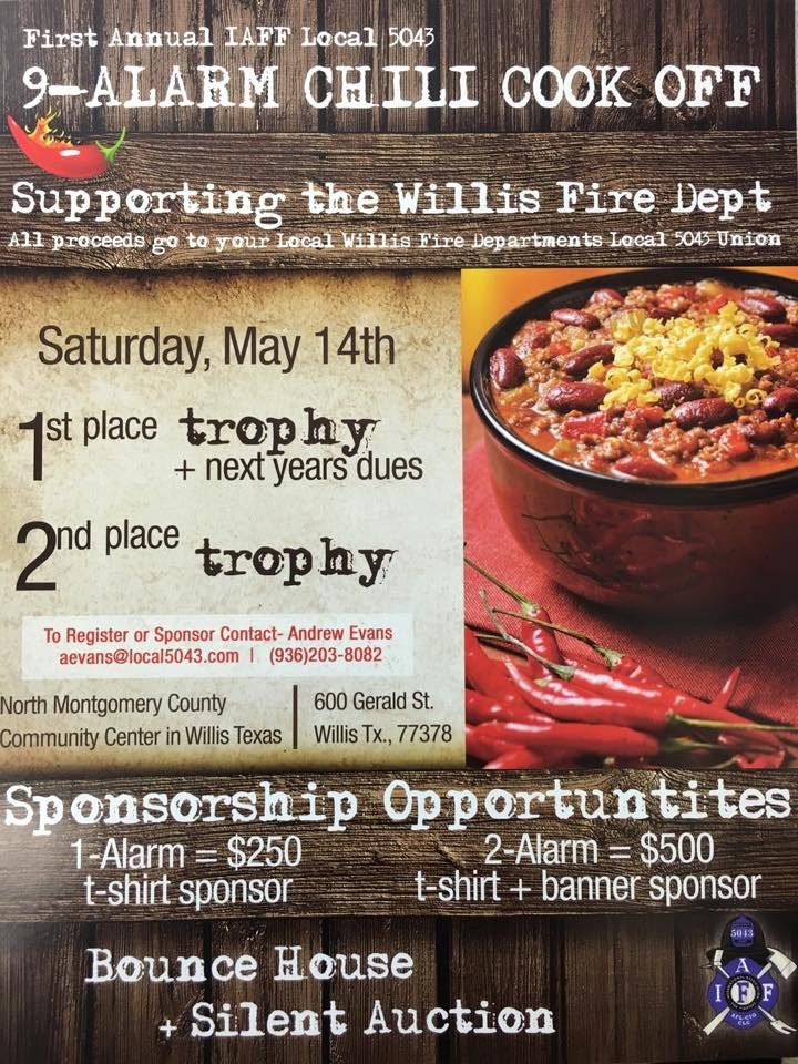 Willis Fire Dept Chilli CookOff