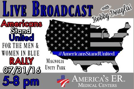 America's ER Men and Women in Blue Rally