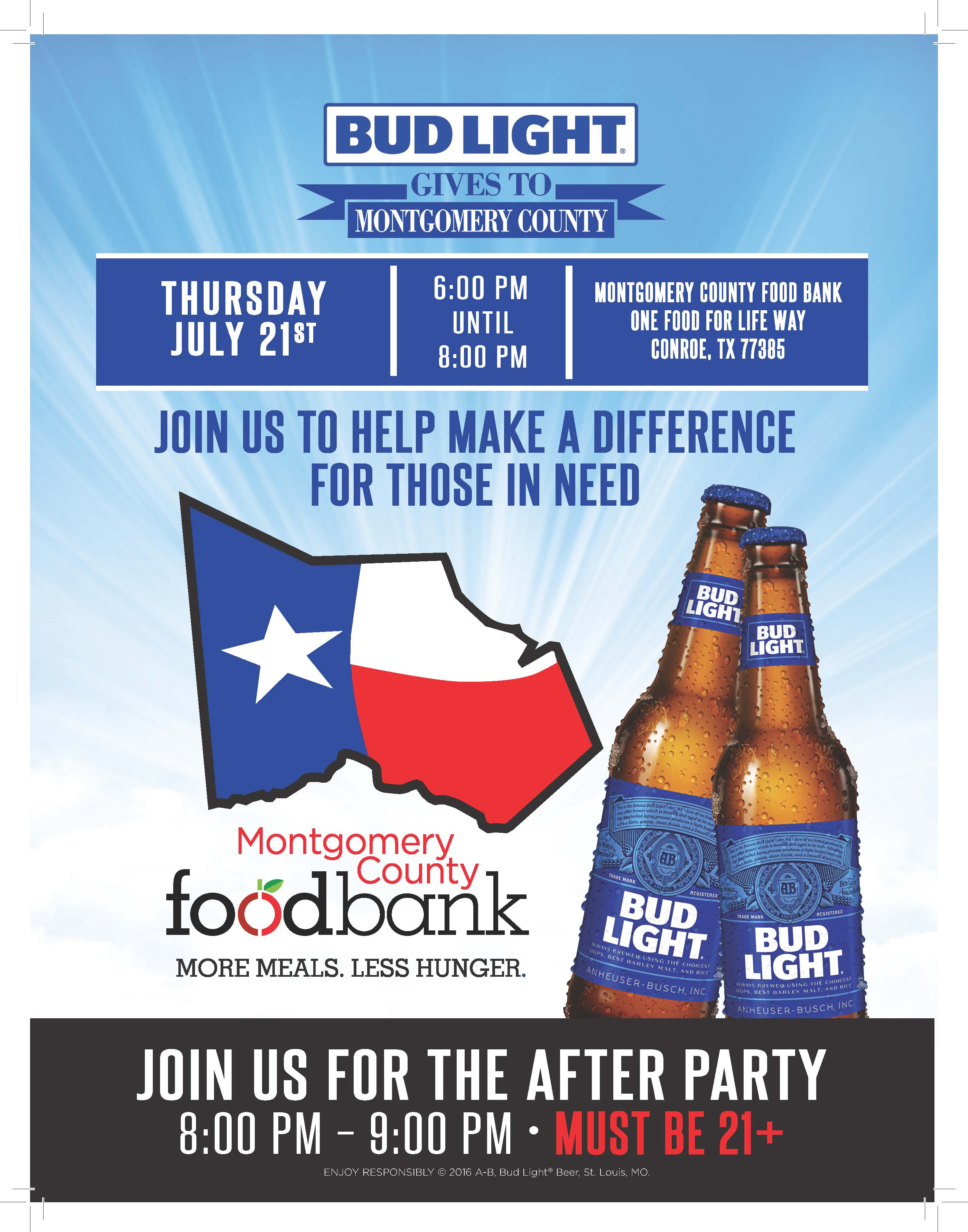 Bud Light Gives to Montgomery County Flyer