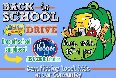 School Supply Drive Drop Off Kroger