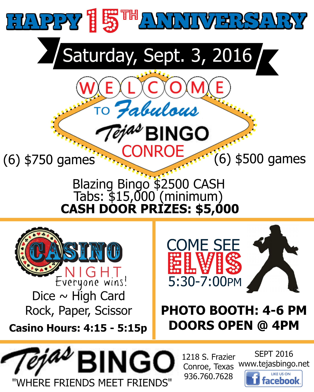 Tejas Bingo Flyer