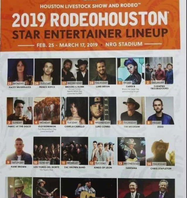 An Allegedly Leaked HLSR 2019 Rodeo Performer List is Making the Rounds on Social Media
