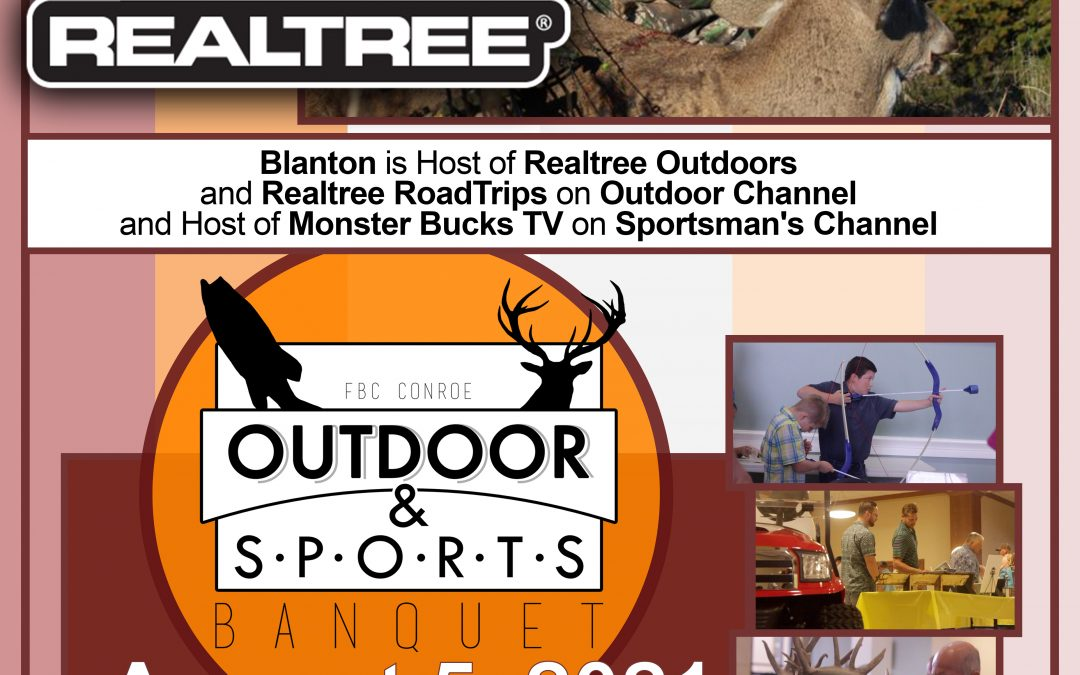 First Baptist Church Conroe Outdoor and Sports Banquet featuring David Blanton