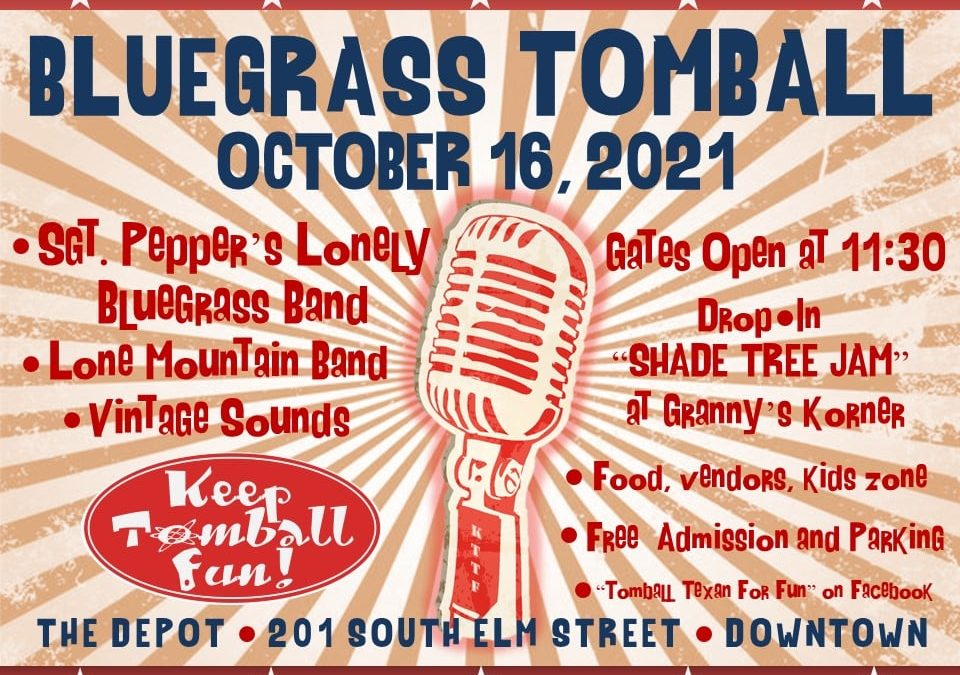 Bluegrass Tomball Returns to the Historic Depot Museum on October 16th